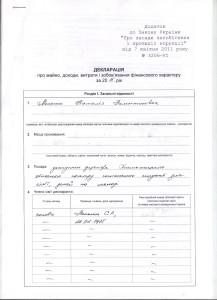 декларація Мельник Н. В.
